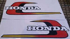 2 X HONDA TWIN FUEL TANK VINYL STICKERS DECALS Left & Right NEW MOTORCYCLE 30CM