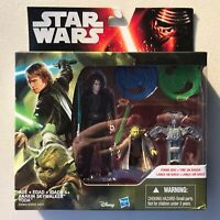 Star Wars Revenge Of The Sith Anakin Skywalker & Yoda Figures Hasbro 2016