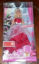 """NIP Barbie Holiday Sparkle! Red Snowflake Dress 11"""" Doll *Free Shipping*"""