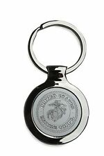 Stainless Steel USMC United States Marine Corps Key Ring Key Chain Collectable