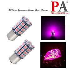 PA 2x G18 P21W 1156 Ba15s PINK 30 5050 SMD 12V DC LED Back Up Bayonet Light Bulb