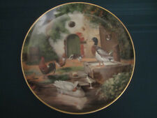 DUCK collector plate ON THE FARM Adolf Lohmann chickens rooster KAISER