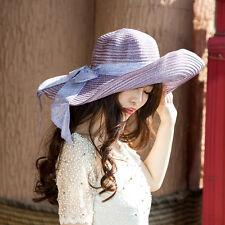Large Floppy Folding Wide Brim Cap Summer Wedding Sun Straw Beach Hat