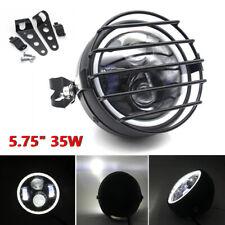"5.75"" 35W LED Motorcycle Headlight Turn Signal Headlamp with Mesh Cover& Bracket"
