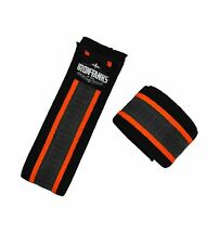 Iron Tanks Bolster Knee Wraps with GripTech Classic Black | Gym Workout Training