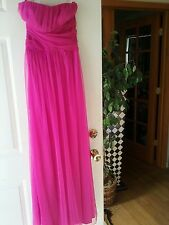 Charlotte Russe Juniors Gown Maxi Prom Dress Pink Fuschia Raspberry NWT M