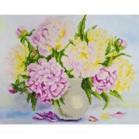 LEISURE ARTS Diamond Dotz Art Embroidery Painting Kit BOUQUET FLOWERS
