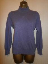 Marks and Spencer - 100% Cashmere Purple Polo Neck Jumper - UK 14 / EU 42