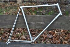 Vintage - SWISS CR-MO ROAD - chrome plated road bicycle frame 58 x 55 x 650C 571