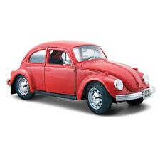 VW BEETLE 1:24 Scale Model Miniature Volkswager Die Cast Cars Red