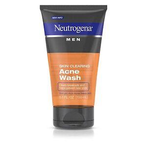 Neutrogena Men Skin Clearing Daily Acne Face Wash with Salicylic Acid Acne Treat