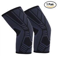 2x Arm Elbow Compression Sleeve Support Brace Protector Arthritis Sport Football