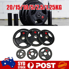 Fitness Olympic Rubber Coated Cast Iron Weight Plate Home Gym Barbell Disc