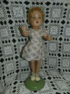 """#260 Vintage 18 """" Composition Doll Wig and Clothes Original 1930's / 1940""""s"""