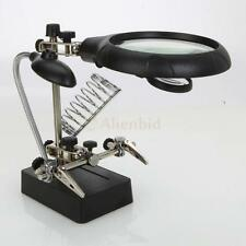3 Magnifying Lens LED Light Magnifier Lamp for Soldering Field with Clip