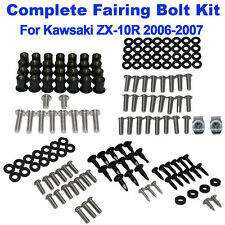 126PCS Complete Fairing Bolt Kit Body Screws Nuts For Kawsaki ZX10R 2006-2007