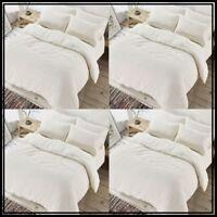 NEW Luxury Fleece TEDDY BEAR Duvet Quilt Cover FUR SHERPA Warm Cozy Pillow Cases