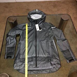 ADIDAS RARE Terrex Waterproof Primeknit Rain Jacket DZ0796 BLACK NWT WOMENS XS