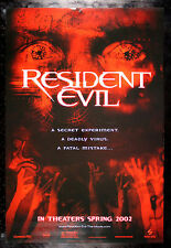 RESIDENT EVIL * CineMasterpieces ORIGINAL DS ZOMBIE BLOOD RED MOVIE POSTER 2002