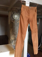 Ruffo Luxury Tan Straight-Leg Suede Trousers. Blogger's Best Spring Item.New