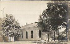Burr Oak MI ME Church c1910 Real Photo Postcard