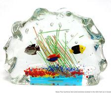 Vintage Murano Fish Bowl Aquarium Italian Hand Blown Art Glass Sculpture