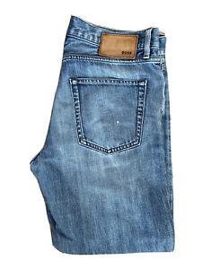 Original Hugo Boss Scout1 Regular Fit Blue Cotton Denim Jeans W32 L28 ES 8164