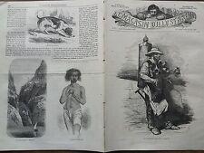 LE MAGASIN D'ILLUSTRATIONS 1859 N 37  LE MARCHAND DE COCO DANS LES RUES DE PARIS