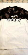 New With Tag Hollister Men's Graphic T-shirt white black floral Medium