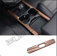 2PCS Peach Wood Grain Inner Water Cup Holder Stripe Trim for Honda CRV 17-18 AA