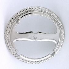 ONE SILVER COLOR MORGAN PEACE EISENHOWER DOLLAR  BOLO TIE MOUNTING CF877