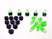 "15 Green Dome LEDs Lights Bulbs 1/2"" Sockets Instrument Panel Dashboard Ford"