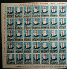 1957  XX° CAMPAGNA  ANTITUBERCOLARE - blocco di  35  valori