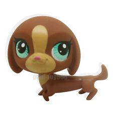 Rera Littlest Pet Shop Chocolate Brown Dachshund Dog Puppy Blue Eyes LPS #3297