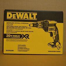 Brand New DEWALT DCF620B 20V Cordless Brushless Screwdriver Drywall Screw Gun