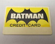 Vtg 1966 Batman Credit Card - National Periodical Publications - Unsigned