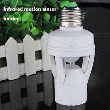 Base E27 B22 Light Bulb Socket Adapter Screw Infrared PIR Motion Sensor Switch