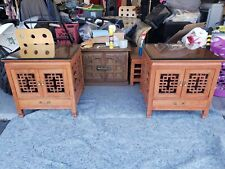 Mid Centry Modern Handcrafted Asian Coffee Table And End Tables