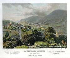 Thusis Domleschg Stahlstich Aquatinta von Rüdisühli nach Huber bei Krüsi 1865