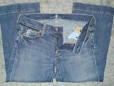 """Woman's 7 for all mankind """"Dojo Crop"""" jeans sz 28"""