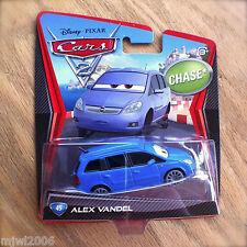 Disney PIXAR Cars 2 ALEX VANDEL #45 CHASE diecast Tokyo airport minivan no tires