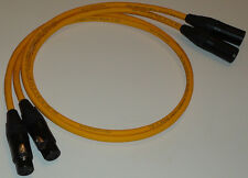 VAN DEN HUL M.C.D102 MKIII HYBRID 50CM XLR MALE > FEMALE  INTERCONNECTS (X 2)