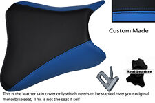 BLUE AND BLACK CUSTOM K3 K4 FITS SUZUKI GSXR 1000 03-04 LEATHER SEAT COVER