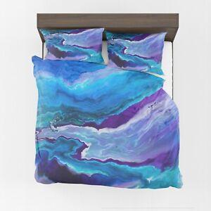 Dreamy Duvet Cover or Comforter Artsy ocean bedding blue Twin Queen King