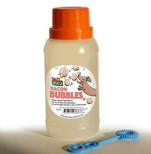 Pets Pad Bacon Scented & Flavour Dog Bubbles - 150ml bottle