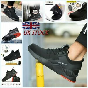 UK Men Women Safety Shoes Steel Toe Cap Work Boots Trainers Sport Hike Shoes K1