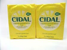 4 x Cidal Natural Antibacterial Soap Bars 125g each, Neutralises odours,