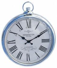 Silver Pocket Watch Kensington Station London Wall Clock 35 cm