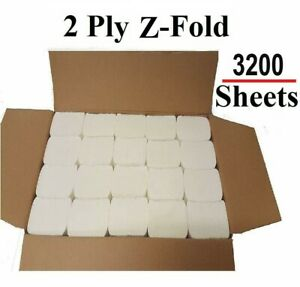Luxury White 2ply C Fold Paper Hand Towels MultiFold - Case of 3200 Napkins