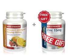 SS Vitamin C 500mg & Rosehip 400mg 360 Tabs + FREE GIFT Zinc 15mg 60 Tabs